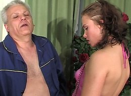 Alana&Caspar oldman sex action